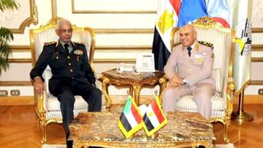 السودان ومصر يتفقان علي لجنة عسكرية مشتركة للحدود