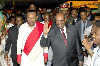 """البشير يصل اثيوبيا للمشاركة في منتدي """"تانا"""""""