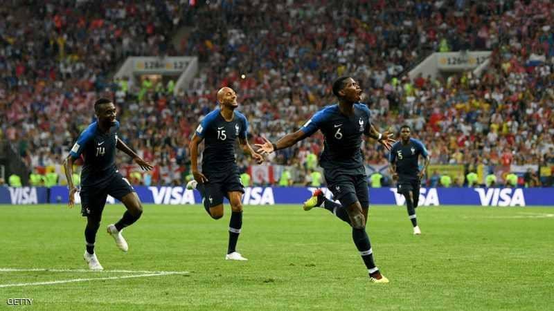 فرنسا تستعيد أمجادها وتتوج بلقب كأس العالم