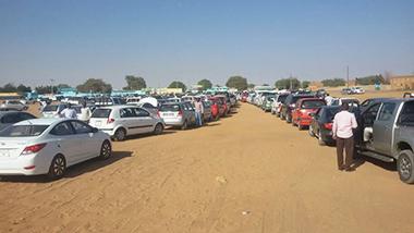 فض مظاهرة بالقوة لملاك سيارات مصادرة