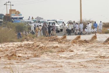 3 وزراء يقفون علي أضرار نهر الدندر عبر مسح جوي
