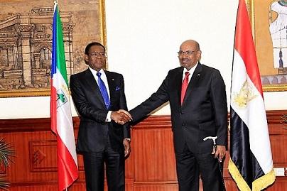 رئيس غينيا الاستوائية يزور الخرطوم ويلتقي البشير