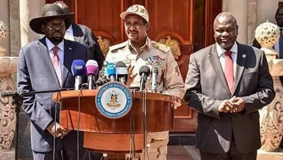 جنوب السودان تكرم الفريق اول (محمد حمدان دقلو) بجوبا الشهر المقبل