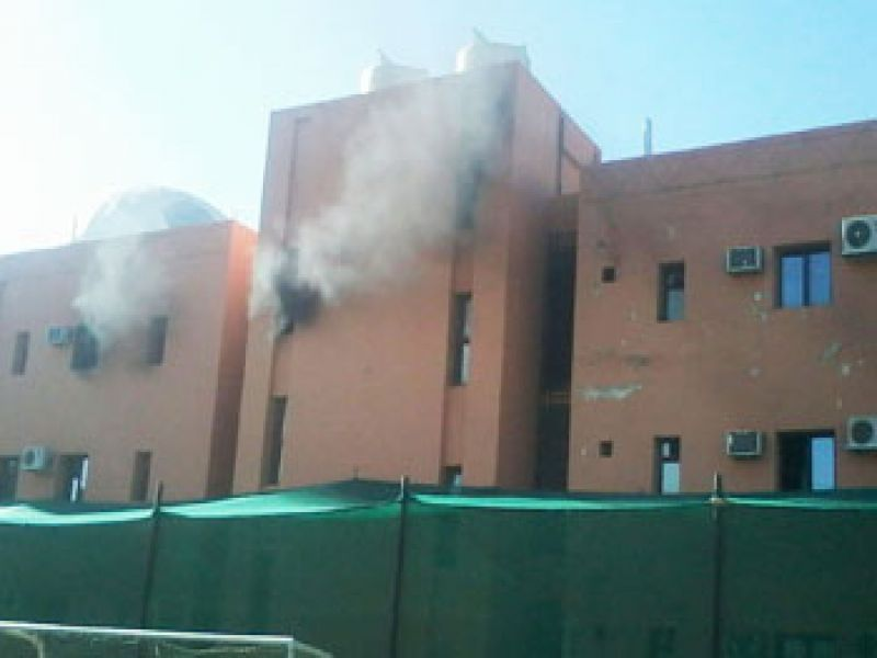 حريق بمباني اتحاد الكرة والهلال يرفض العقوبات