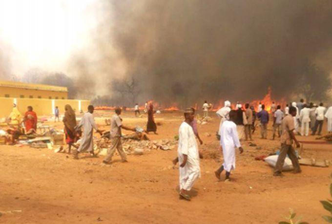 حرائق بشمال دارفور تقضي علي 30 منزلاً