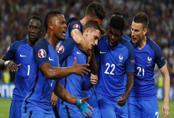 ثنائية غريزمان تقود فرنسا الي نهائي كأس اوروبا