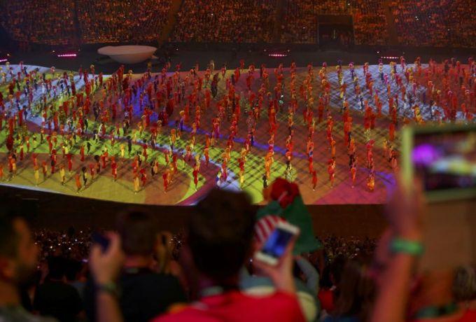 إفتتاح دورة الألعاب الاولمبية بالبرازيل بحضور 80 ألف مشاهد