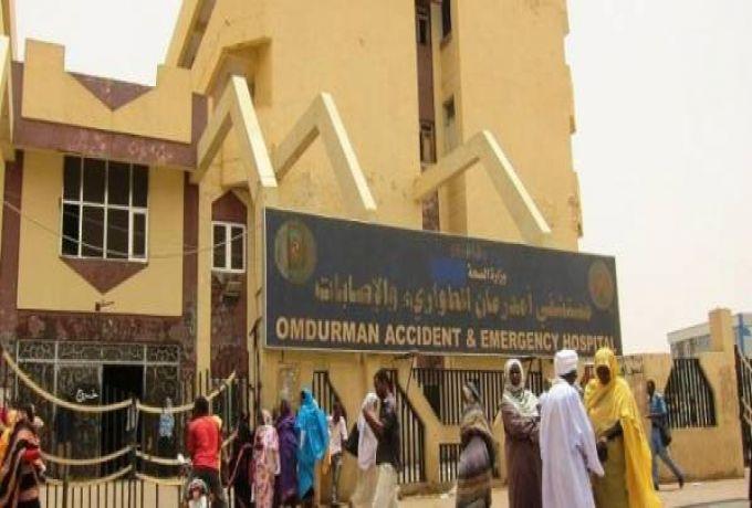 اطباء مستشفي ام درمان يضربون بعد حادث الإعتداء