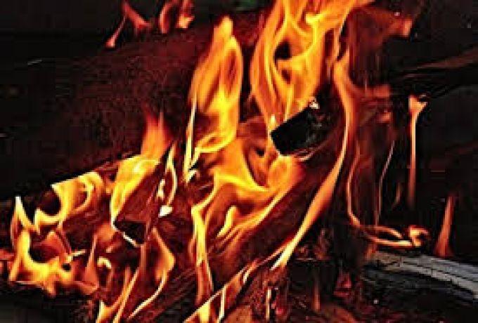 نشوب حريق هائل بسوق جبل الأولياء