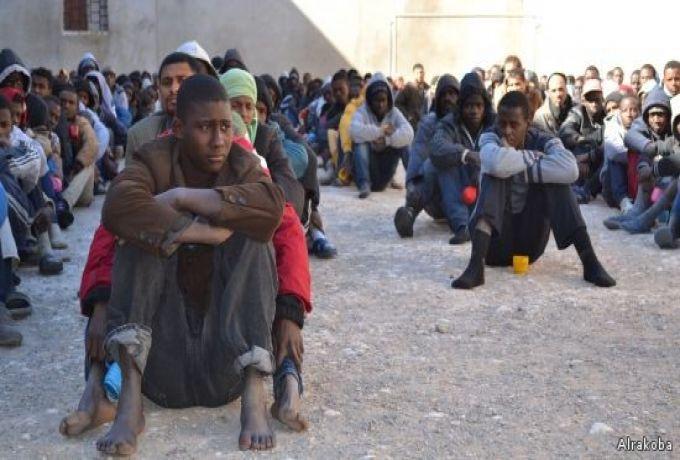"ليبيا : إحباط هجوم علي مركز إيواء مهاجرين لتهريب ""سوداني"""