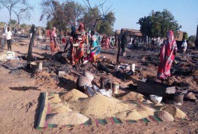 حريق يلتهم أكبر أسواق جنوب دارفور