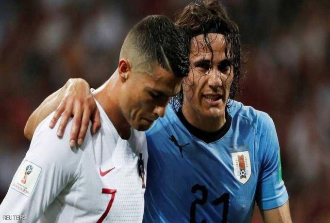 كافاني يحسم البرتغال ورونالدو يلحق بميسي