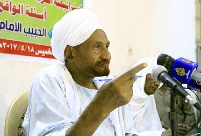 """المهدي يهاجم الإنقاذ ويقدم """"نداء السودان"""" لحماية السودان من كارثة"""