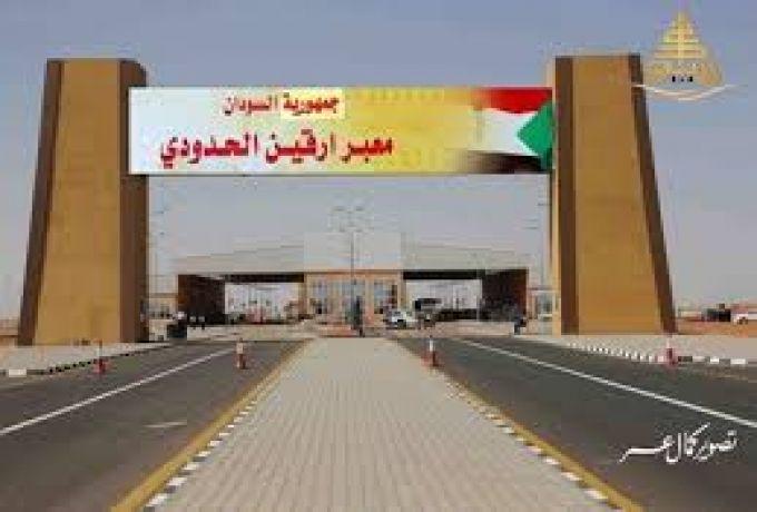 المنتجات المصرية تبدا الدخول الي السودان