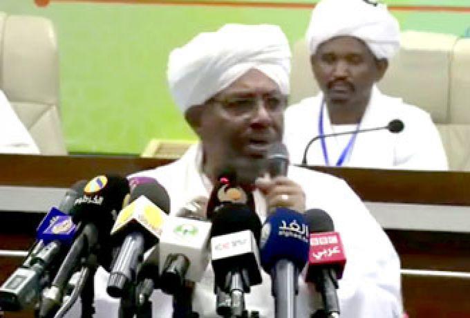 """البشير لمواطني شرق دارفور: """"أهل الجزيرة عايزين أنس عمر"""""""