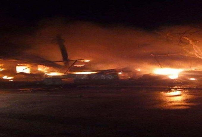 حريق هائل بمحلج قطن بالجزيرة
