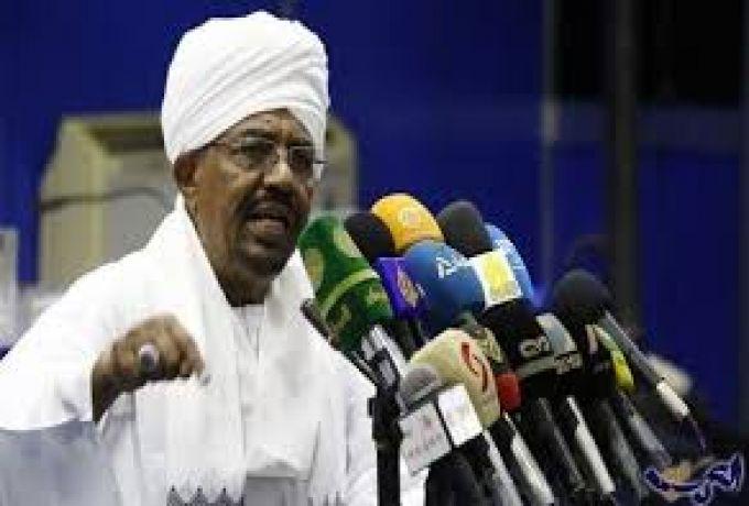 البشير : الخونة والعملاء والمرتزقة سعوا لتخريب السودان