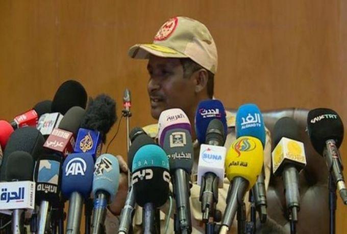 حميدتي : الدعم السريع لم يطلق الرصاص ،بعض الناس أصحاب غرض
