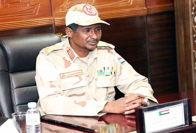 حميدتي يغادر الخرطوم الى جوبا لمقابلة أحد أبرز قيادات التمرد السودانية