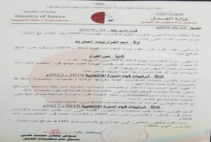 شبكة الصحافيين تصدر بيان ضد قرار مسجل تنظيمات العمل