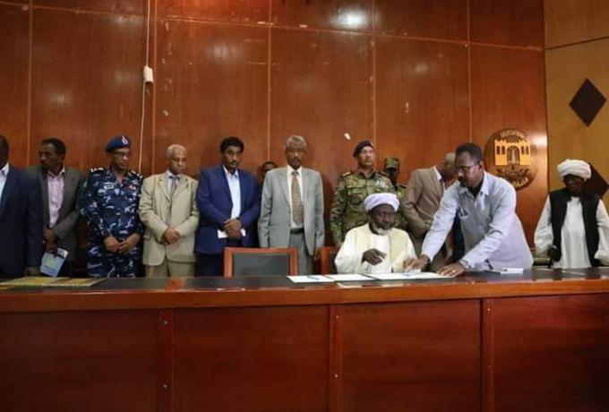 عضوا مجلس السيادة الإنتقالي #قاضي و #جابر يشهدان توقيع  وثيقة الصلح بين أطراف النزاع ببورتسودان