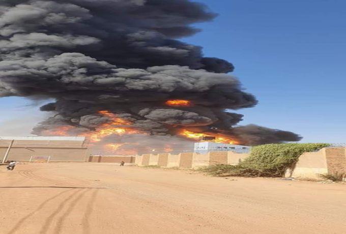 حريق هائل بمصنع سيراميك سيلا