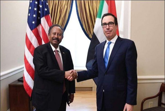 التفاصيل الكاملة بشأن لقاء حمدوك مع وزير الخزانة الأمريكي في واشنطن