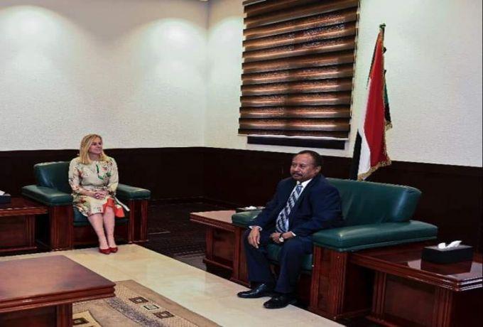حمدوك يلتقي وزيرة التجارة والتعاون التنموي الهولندية