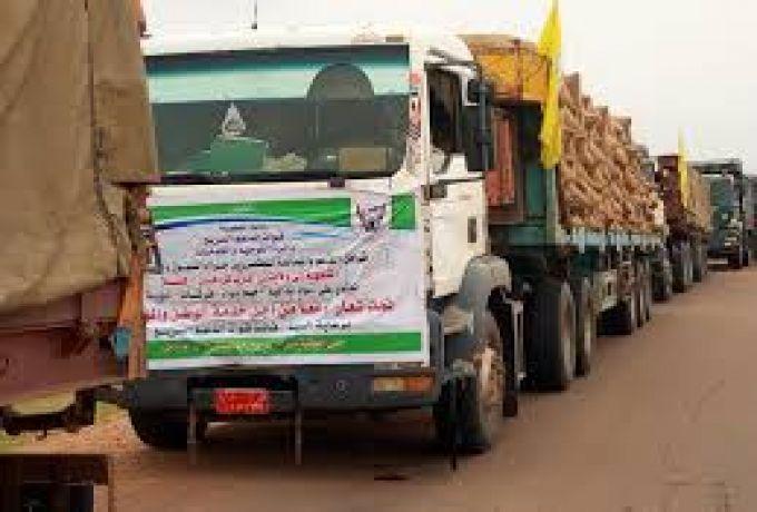 والي غرب دارفور يتسلم القافلة الصحية المقدمة من قوات الدعم السريع