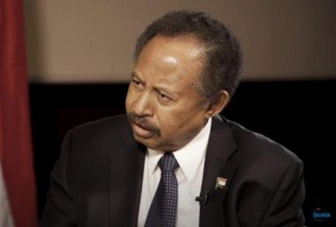 حمدوك يتلو خطاب للامة السودانية