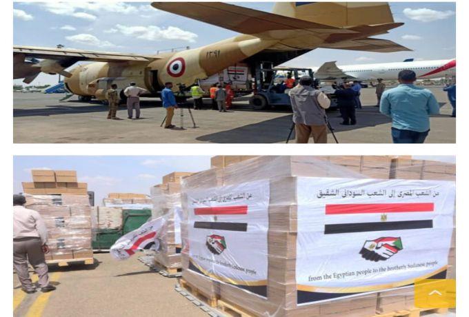 القاهرة ترسل (20) طنا من المساعدات الطبية والغذائية للخرطوم ومجلس السيادة يستقبلها بالترحاب