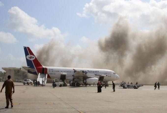 السودان يدين الهجوم على مطار عدن الدولي