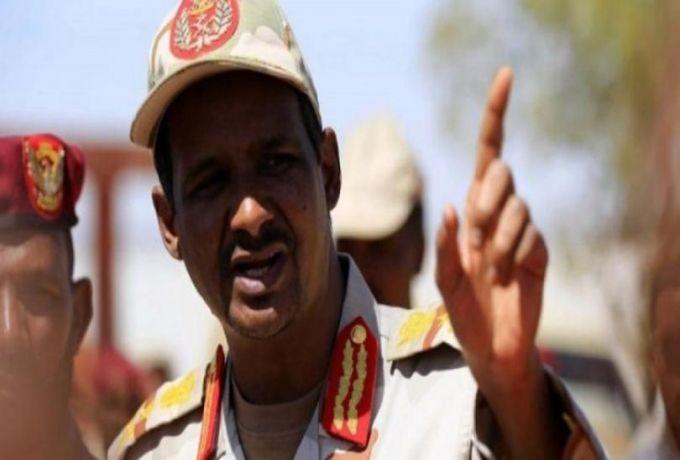 دقلو : نريد حكومة برئاسة مدنية كاملة الدسم