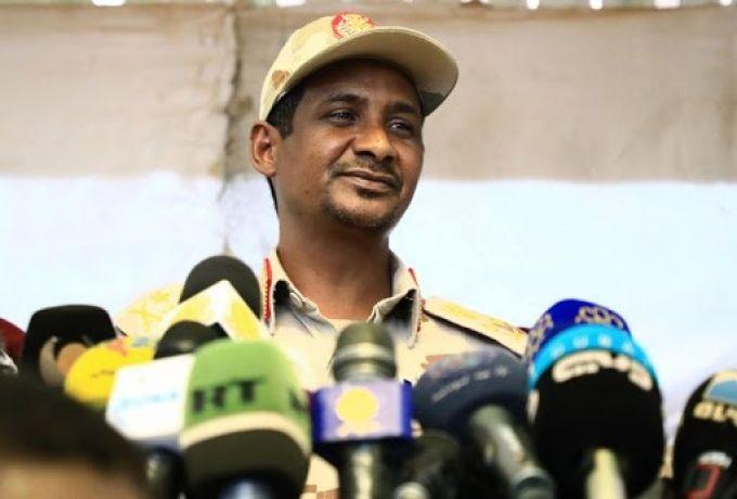 دقلو يقدم شرحا للاتحاد الافريقي حول تطورات الأوضاع في السودان