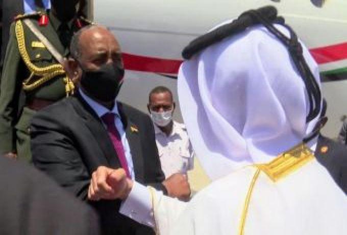 رئيس مجلس السيادة الفريق البرهان يصل الدوحة