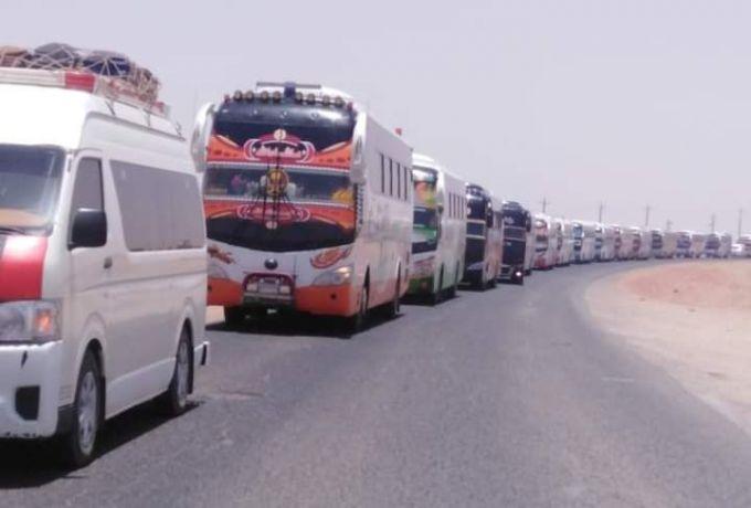 (241) ضابط و (17) عربة مرور لبدء عمليات تفويج المركبات